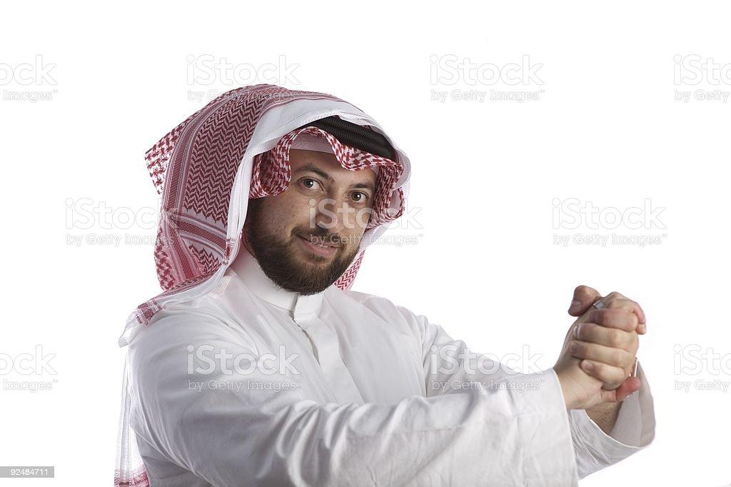 Arabian Businessman portrait smiling royalty-free stock photo