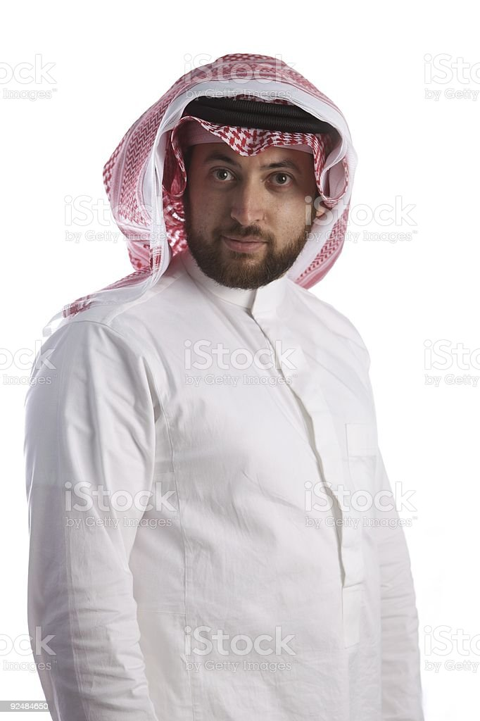 Arabian Businessman smiling royalty-free stock photo