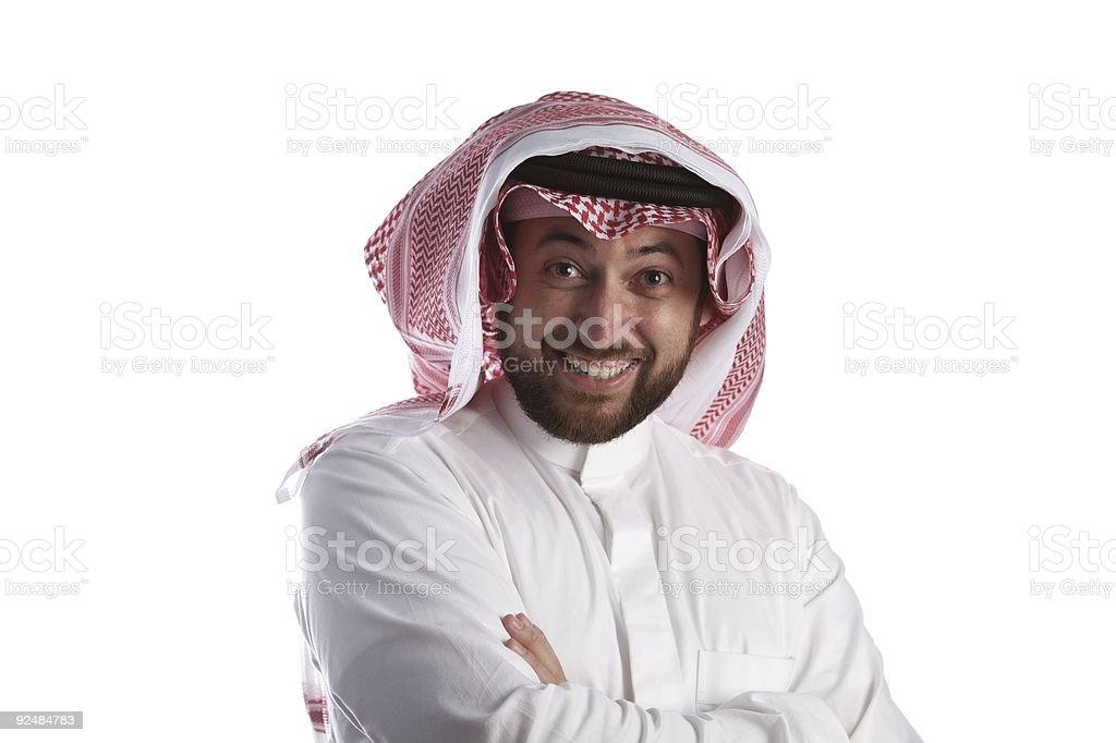 Arabian businessman smiling royalty-free stock photo