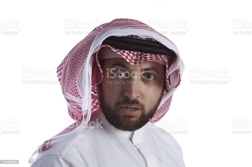 Arabian Businessman talking royalty-free stock photo