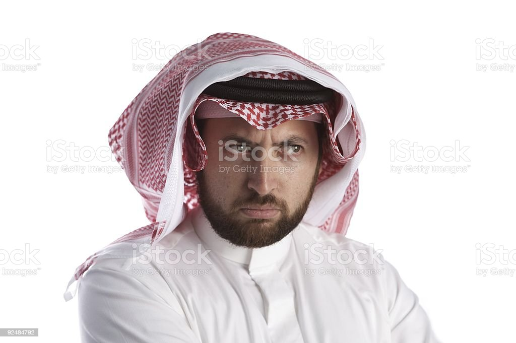 Arabian businessman with anger royalty-free stock photo