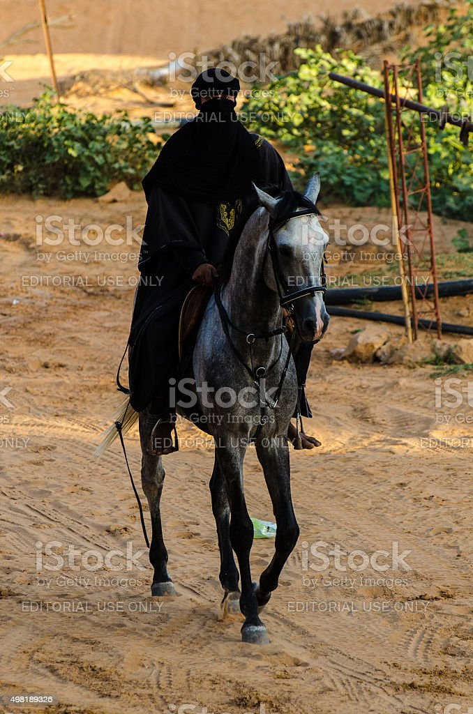 Arabian dark knight stock photo