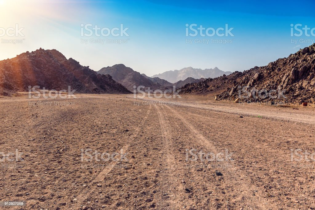Arabian desert in Egypt stock photo