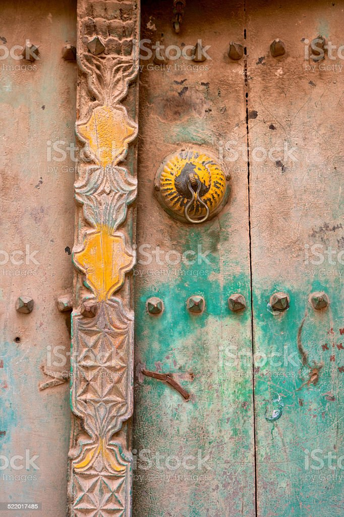 Arabian Door Detail stock photo