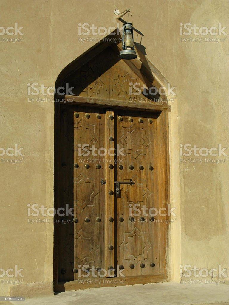 Arabian Doorway stock photo