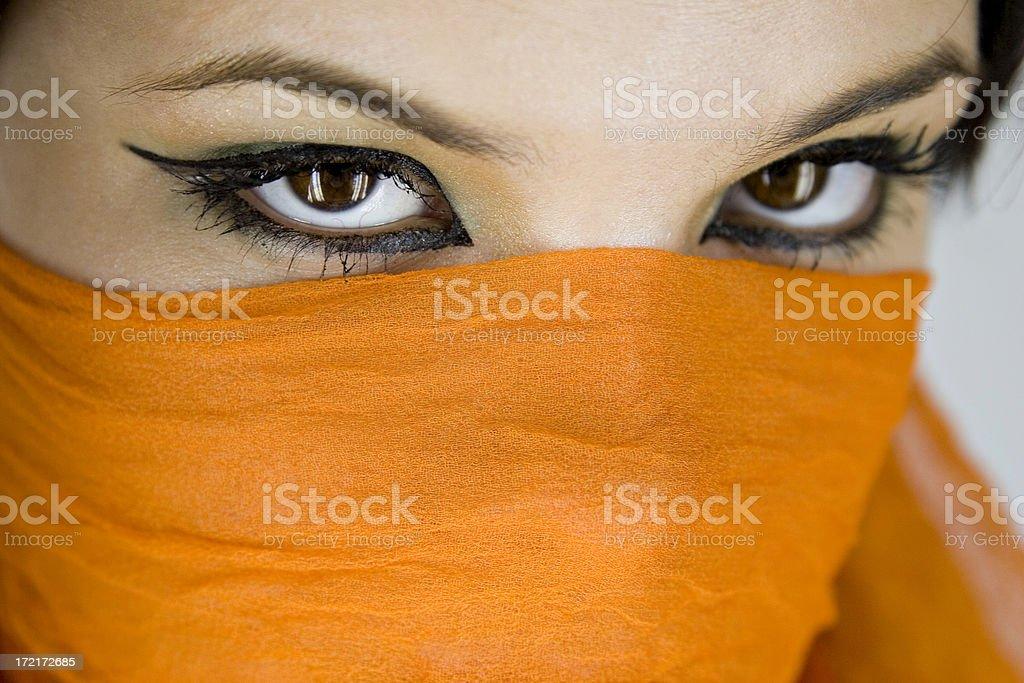 Arabian eyes royalty-free stock photo