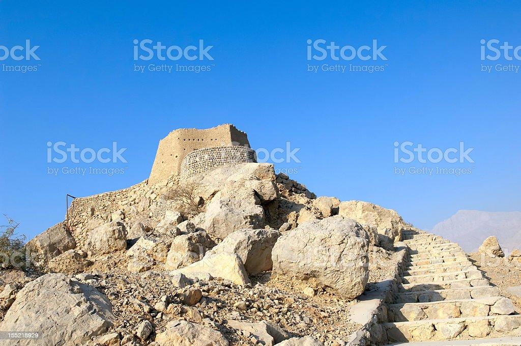 Arabian Fort in Ras al Khaimah United Arab Emirates royalty-free stock photo