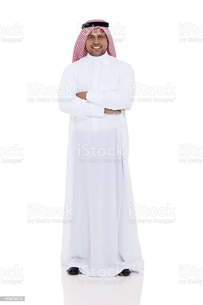 arabian man full length portrait stock photo