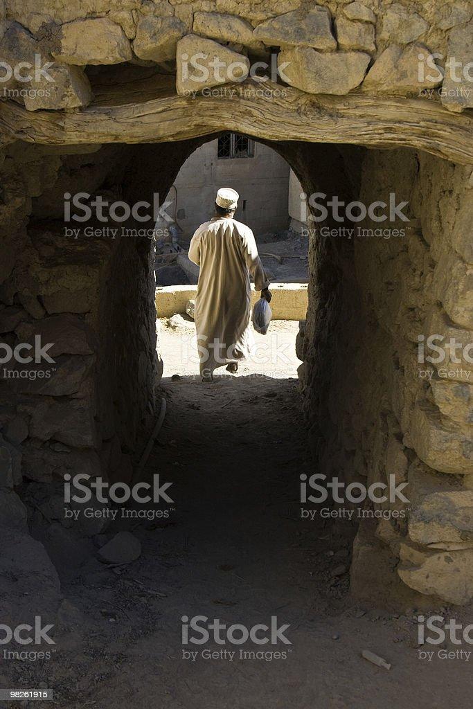 Arabian man in Oman royalty-free stock photo