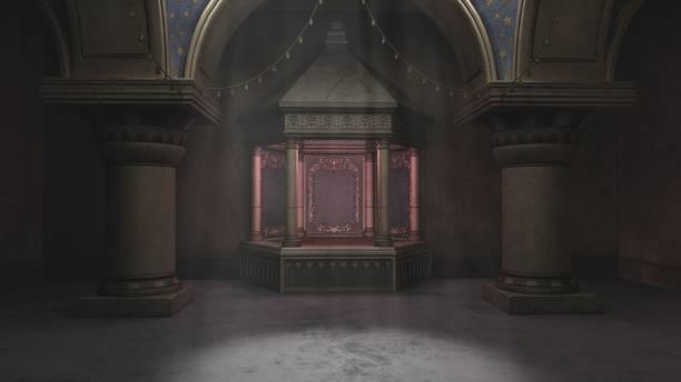 3D Arabian Nights tomb stock photo