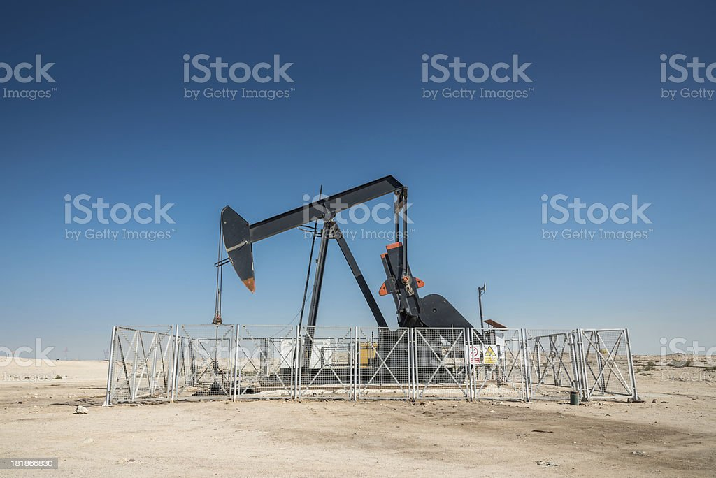 Arabian Oil Industry Well Pump royalty-free stock photo