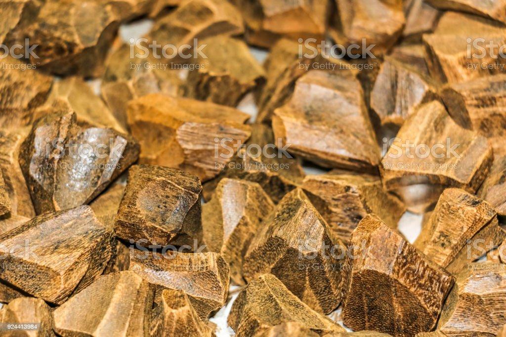 Arabian Oud, bois d'agar, aussi appelé bois d'aloès, aloès, copeaux de l'encens - Photo