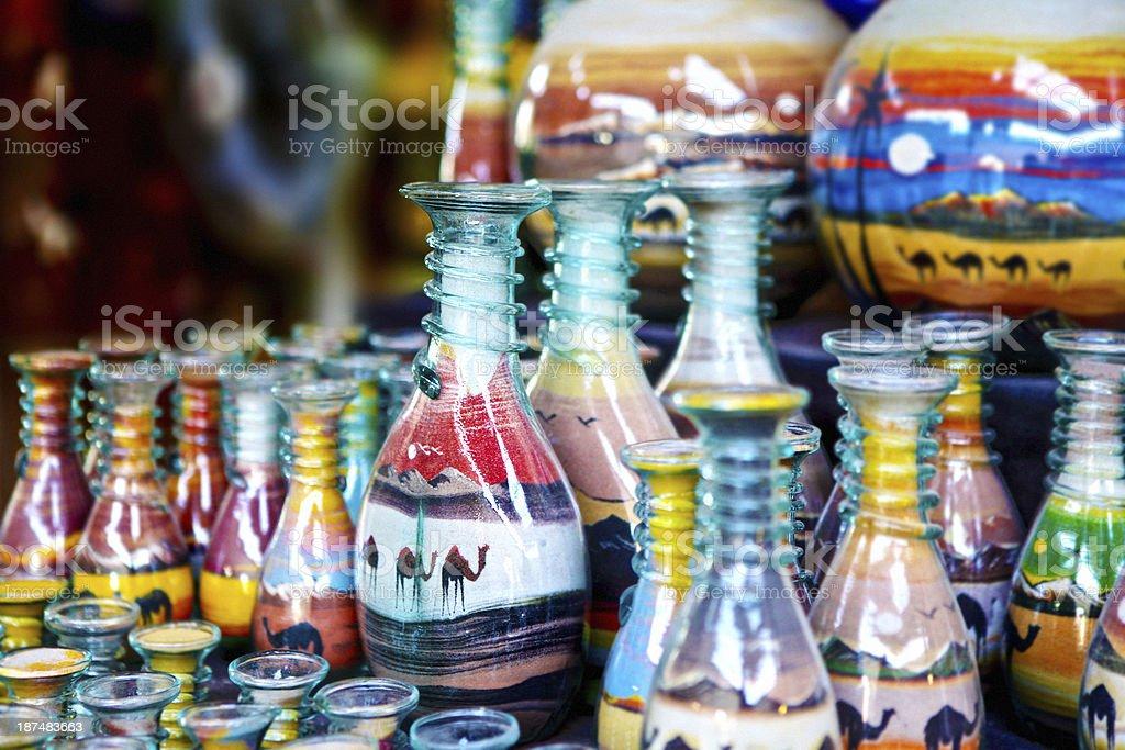 arabian style Sand in Bottles artcraft stock photo