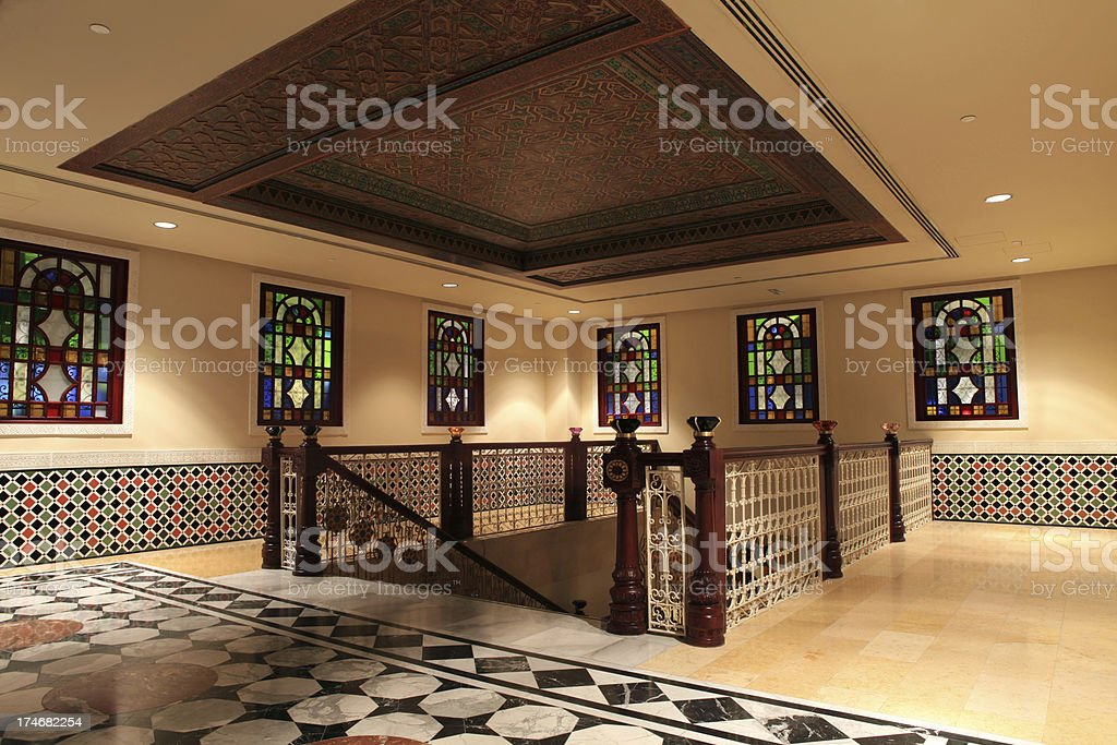 Arabian style stairs royalty-free stock photo