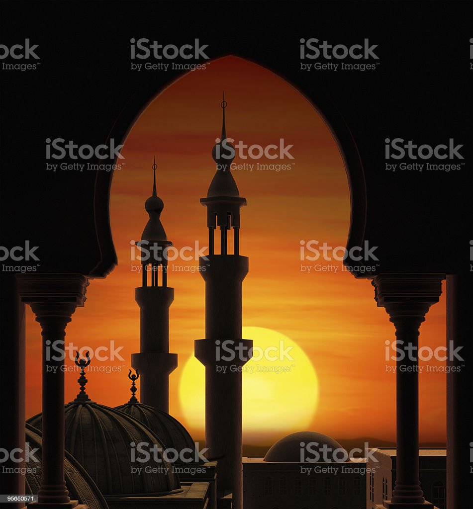Arabian Sunset stock photo