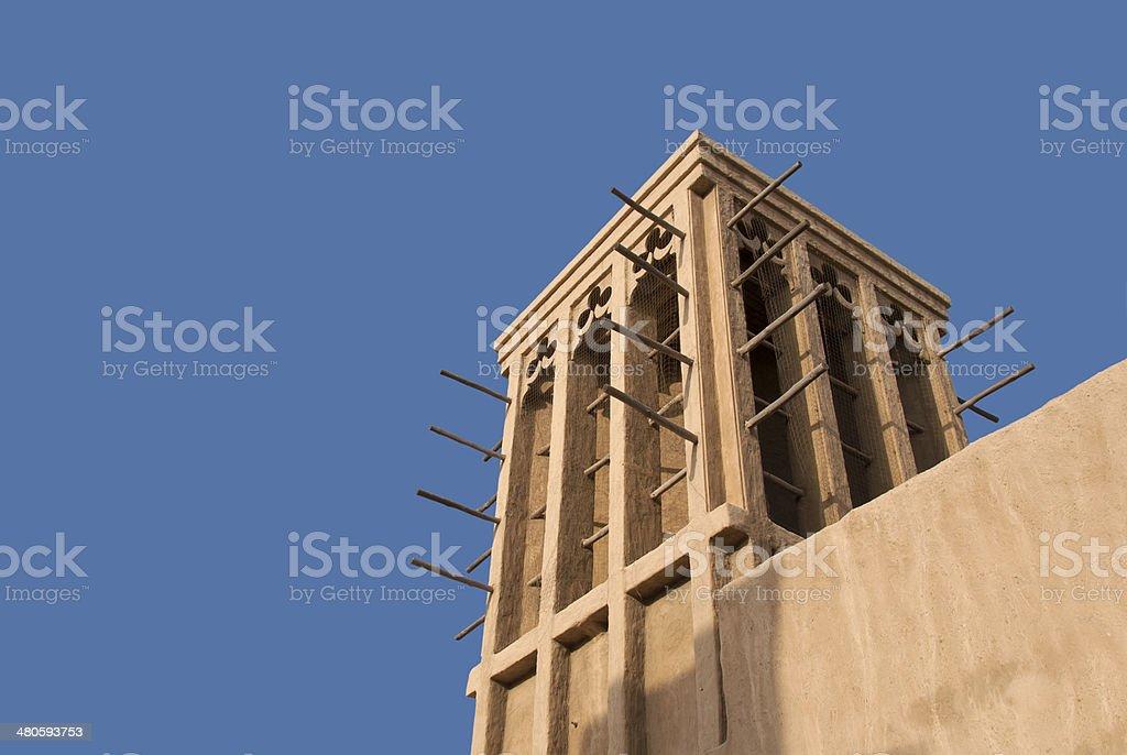 Arabian Wind Tower stock photo