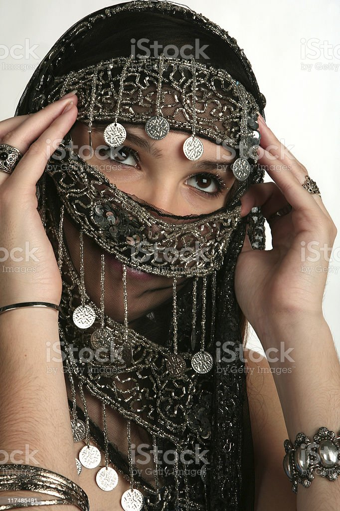Arabian/indian woman royalty-free stock photo