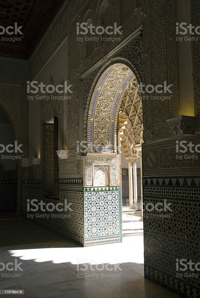 Arabic arch royalty-free stock photo