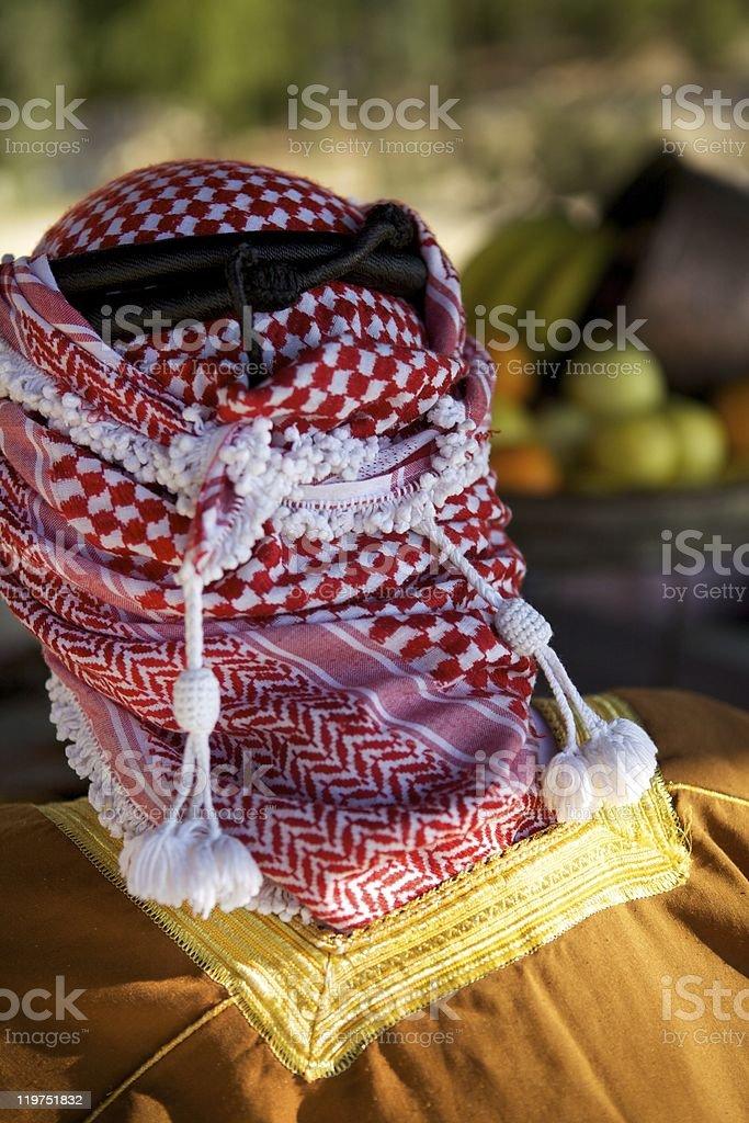 Arabic Bedouin Man in a Keffiyeh stock photo