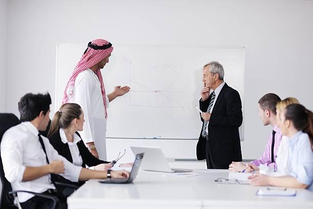 Arabischer Geschäftsmann am meeting – Foto