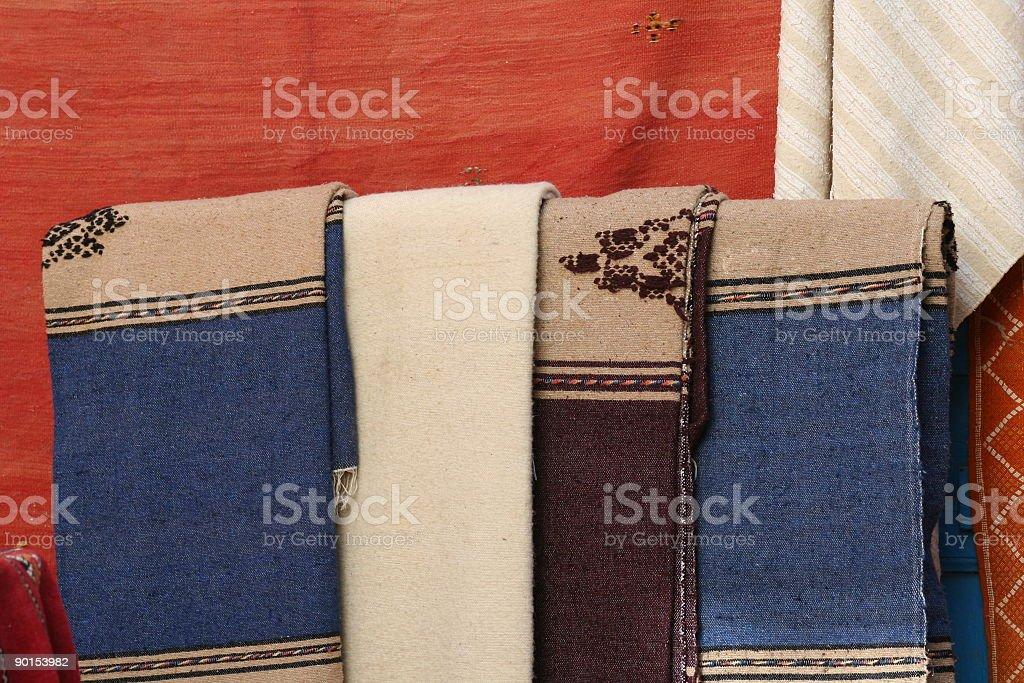 Arabic carpet market royalty-free stock photo