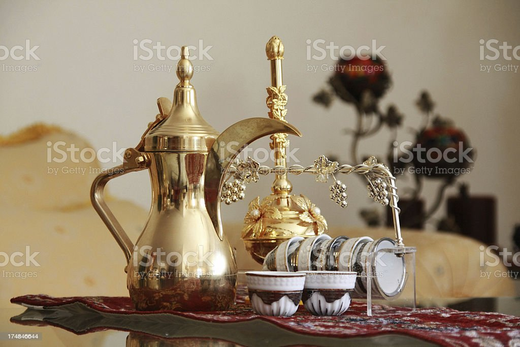 Arabic Coffee Pot And Cups Set Stock Photo More Pictures Of Arabia