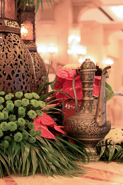 arabic coffee pot stock photo