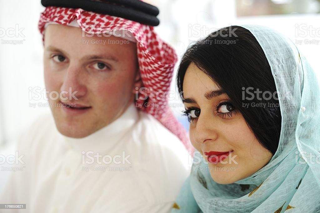 Pareja árabe, esposa y marido foto de stock libre de derechos