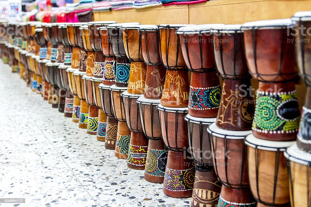 Arabic darbuka market . stock photo