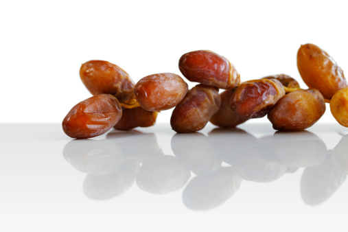 Arabic dates shot on a white background