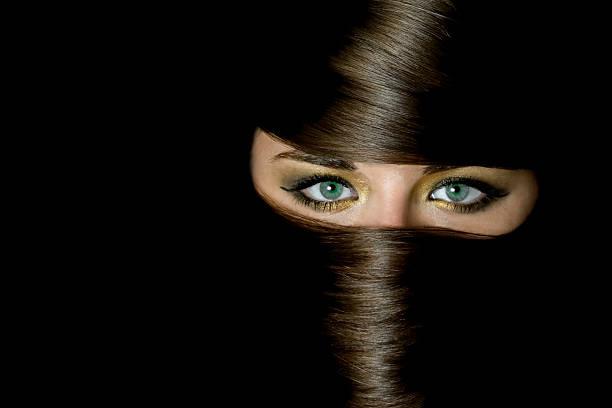 arabische augen - burka stock-fotos und bilder