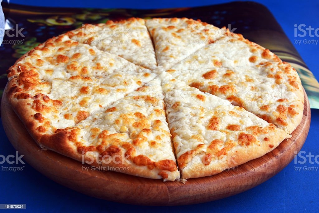 Arabic food Cheese Manakesh stock photo