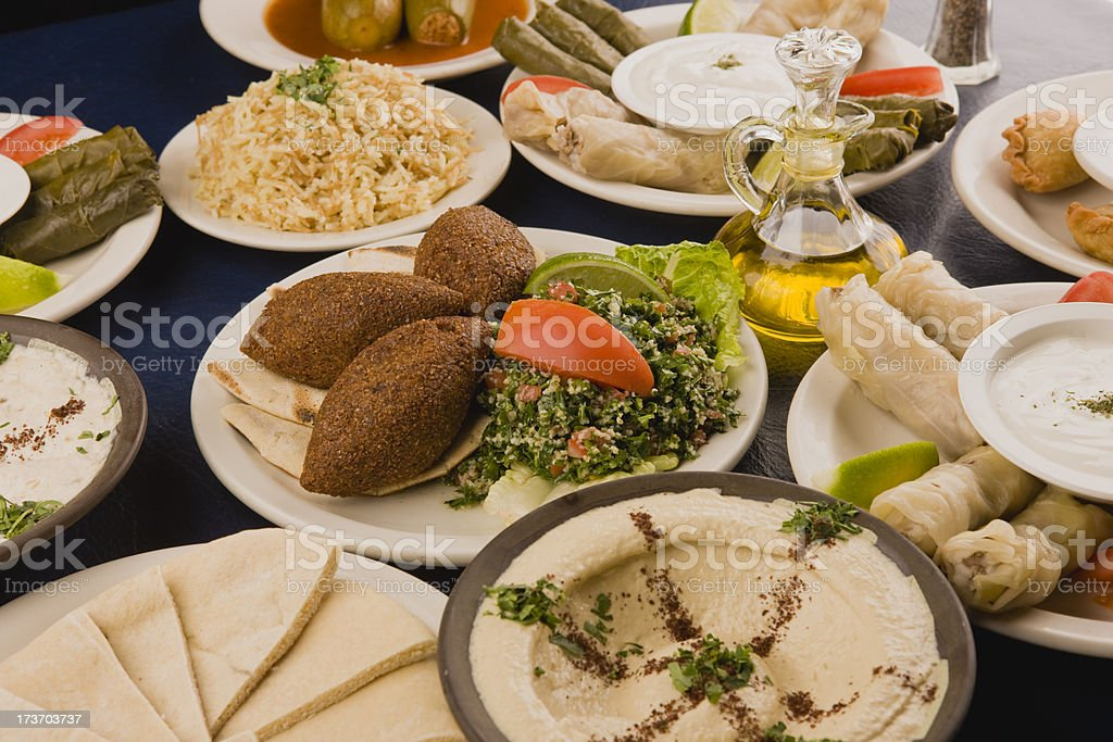 Arabic food stock photo