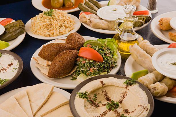 cuisine arabe - liban photos et images de collection