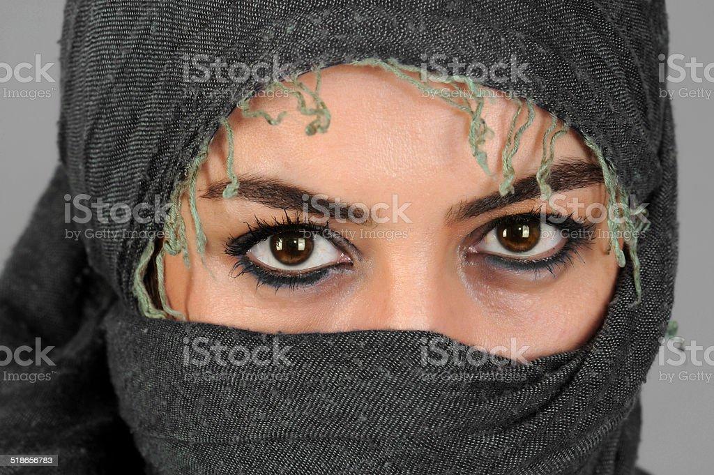 Arab girl in sexe burka