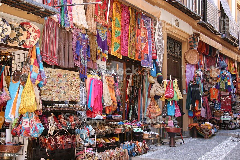 Arabic hippie shop stock photo