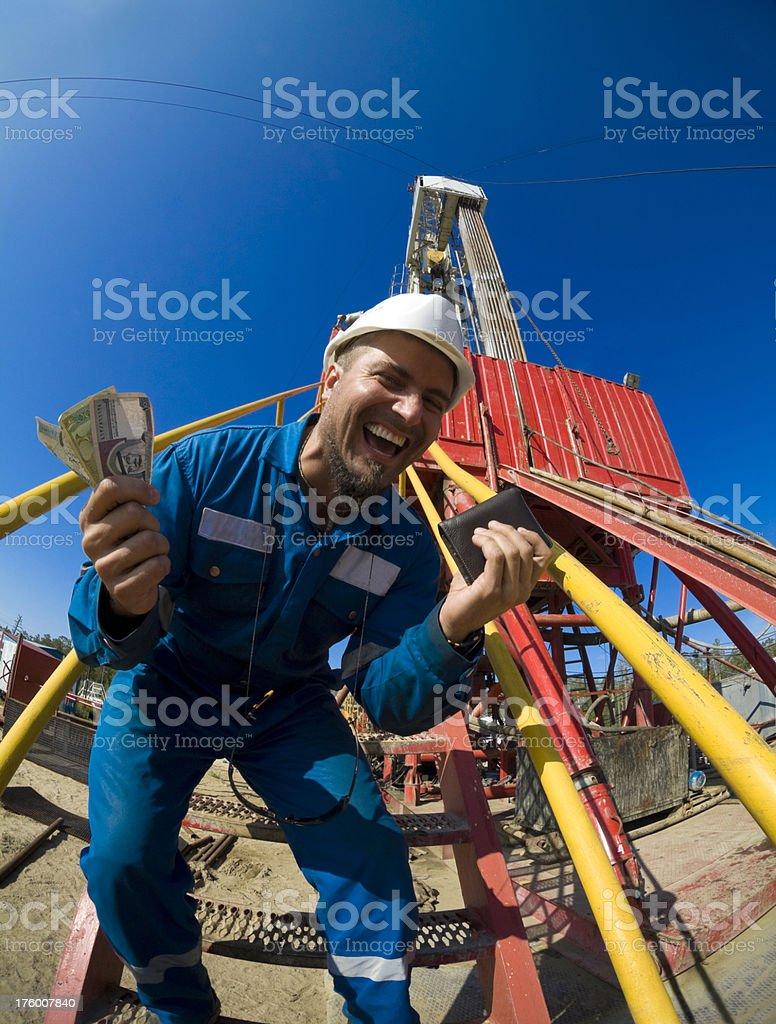 Arabic man making money royalty-free stock photo