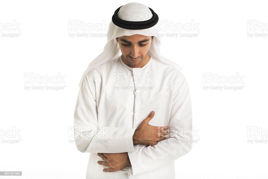 Arabic man praying royalty-free stock photo