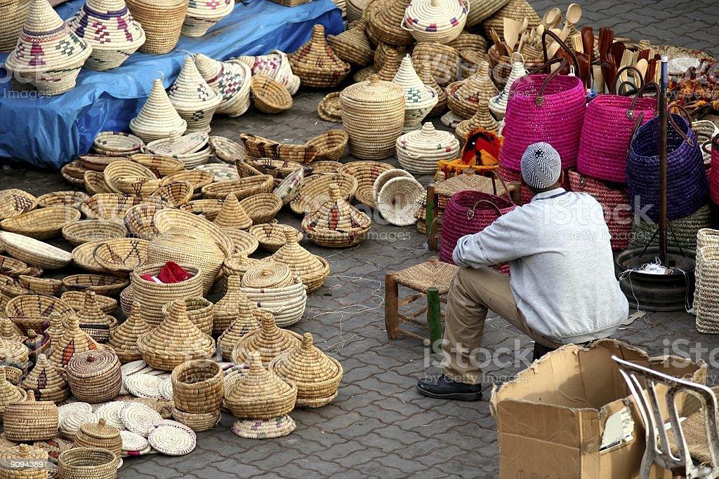 Arabic market stock photo