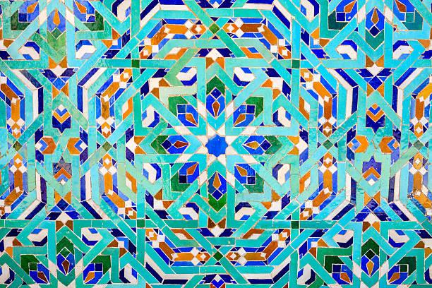 アラビア風モザイクのハッサン 2 世モスク、カサブランカ、モロッコ - ムーア様式 ストックフォトと画像