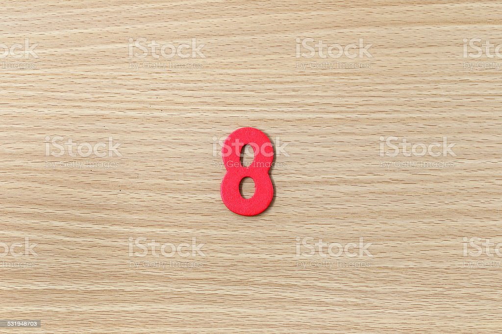 Arabic numbers of colorful. stock photo