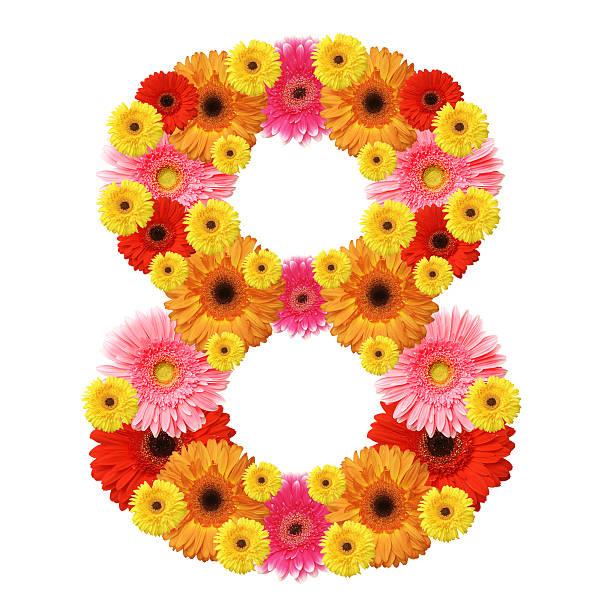 arabic numeral stock photo