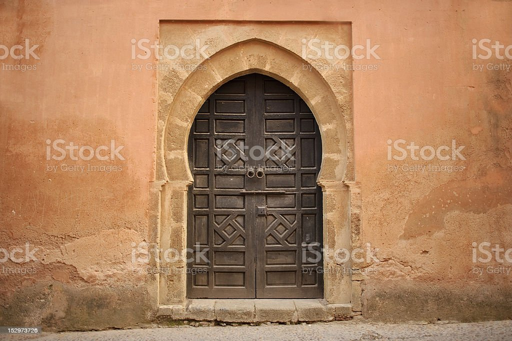 Arabic old style door royalty-free stock photo