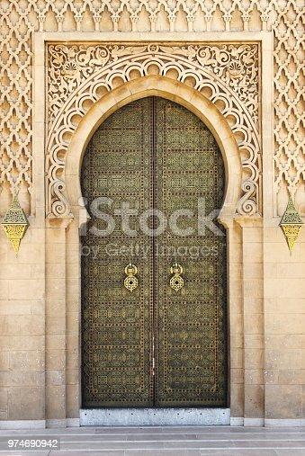 istock Arabic oriental styled door in Rabat 974690942