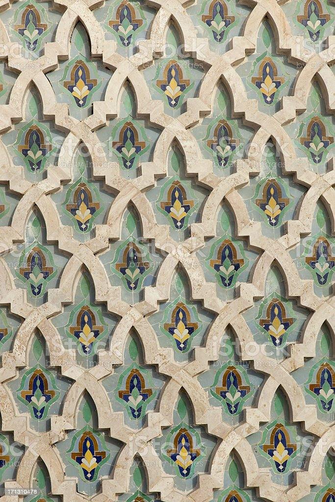 Arabic painted tiles texture royalty-free stock photo