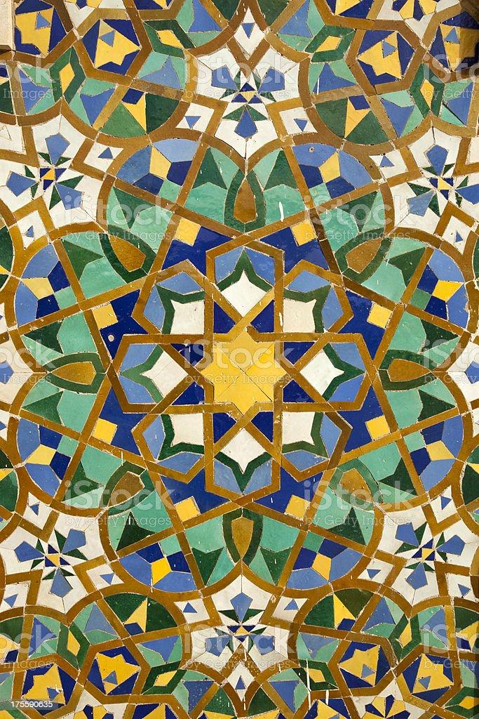 Arabic painted tiles texture stock photo