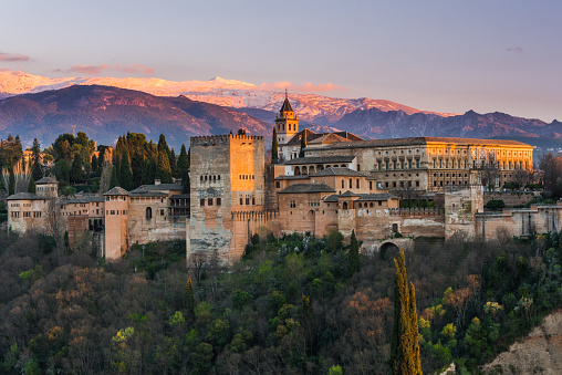 Arabic Palace Alhambra In Granadaspain Stock Photo - Download Image Now
