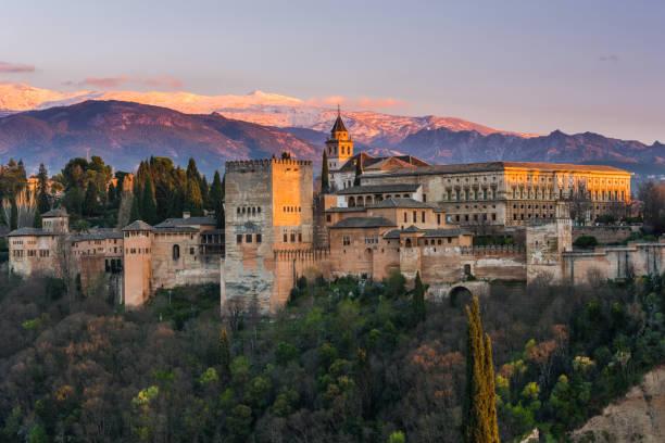 arabic palace alhambra in granada,spain - スペイン グラナダ ストックフォトと画像