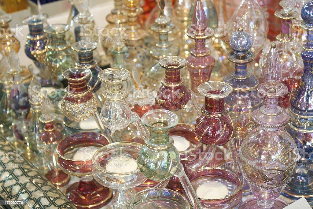 Arabic Perfume Bottles royalty-free stock photo