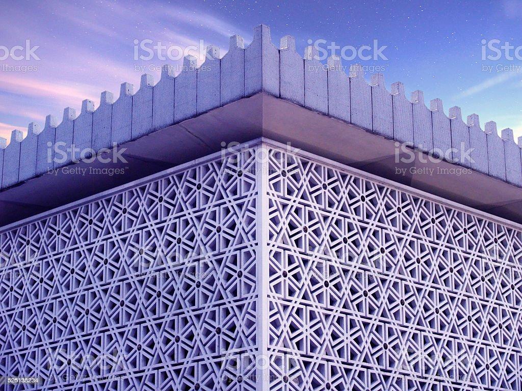 Arabic roof pattern stock photo
